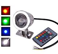 AC/DC 12V IP65 Waterproof RGB 10W Underwater Lamp / Colorful Remote Control Outdoor Waterproof  Underwater Colorful Lights