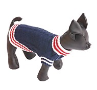 Dog Sweater Dog Clothes Fashion Casual/Daily Color Block Dark Blue Red