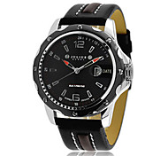 Men's Sport Watch Fashion Watch Quartz Calendar Water Resistant / Water Proof Leather Band Casual Black Brown
