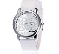 XU Neutral Quartz Hollow Out Silicone Watch