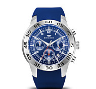 Men's Sport Watch Fashion Watch Quartz Calendar Water Resistant / Water Proof Silicone Band Blue Orange