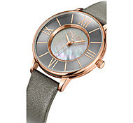 Women's Fashion Watch Quartz Water Resistant / Water Proof Leather Band Casual Black Blue Brown Grey Gold