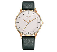 Men's Fashion Watch Quartz Water Resistant / Water Proof Leather Band Casual Black Brown Green Grey Gold
