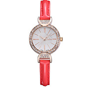 Women's Fashion Watch Quartz Water Resistant / Water Proof Leather Band Casual Black Red Brown Pink