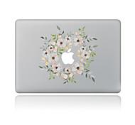 1 ед. Защита от царапин Цветы Прозрачный пластик Стикер для корпуса Узор ДляMacBook Pro 15'' with Retina MacBook Pro 15 '' MacBook Pro