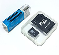 16GB MicroSDHC TF Memory Card with all in one USB Card Reader and SDHC SD Adapter