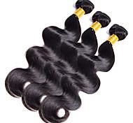 Полная голова 300g / 3bundles человеческие волосы тела 10-20inch темные человеческие волосы ткут
