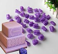 40 выпечке Mold Числа Буквы Для торта Для Cookie Пластик Сделай-сам Экологичность Новогодняя тематика Halloween День Святого Валентина