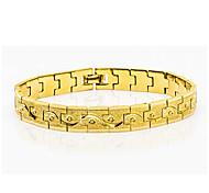 24K Gold Plated For Man Women Fashion Chain Bracelets Punk Bike Link Chain Jewelry