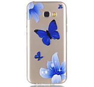 Para samsung galaxy a5 (2017) a3 (2017) caso do telefone material tpu alívio do padrão de borboleta