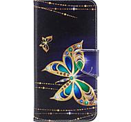 Para iphone 7plus 7 caixa de telefone material de couro PU grande padrão de borboleta pintado 6s mais 6plus 6s 6 se 5s 5