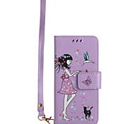 Para samsung galaxy a5 (2017) a3 (2017) caixa para telefone material de couro para pupo caixa de telefone luminoso para modelo de mulher e