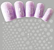 1 Стикер искусства ногтя С рисунком Компоненты для самостоятельного изготовления макияж Косметические Ногтевой дизайн