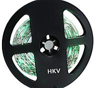 HKV® 1PCS 5M 36W 300 LED 5630 SMD 3450-3550LM Green Light Normal Brightness Flexible LED Light Bar Strip (DC 12V)