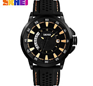 Men's Fashion Watch Wrist watch Quartz Silicone Band Black