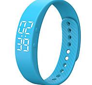 3D T5S LED Display Sports Gauge Fitness Bracelet Smart Step Tracker Pedometer