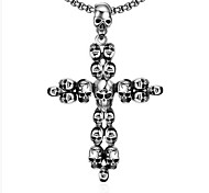 MPL Retro Skull Cross Stainless Steel Necklace