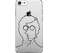 Для iphone 7 плюс 7 чехол для крышки экологически чистый рисунок мультфильма задняя крышка корпуса / волны мультфильм мягкий tpu для