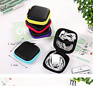 PU Storage Bag Earphone Headset Cable Zipper Bag Cable Storage Charger Digital Packing Box