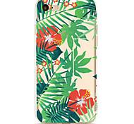 Для apple iphone 7 7 плюс 6s 6 плюс чехол для крышки зеленый лист сафлоровый узор окрашенный высокий уровень проникновения tpu материал