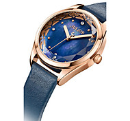Women's Fashion Watch Japanese Quartz Water Resistant / Water Proof Leather Band Black Blue Red Brown Gold