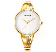 REBIRTH Женские Модные часы Китайский Кварцевый сплав Группа Серебристый металл Золотистый