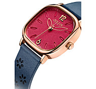 Women's Fashion Watch Japanese Quartz Water Resistant / Water Proof Leather Band White Blue Brown Grey Gold