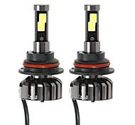 Kkmoon paire de 9004 hb1 dc 12v 40w 4000lm 6000k led phare kit lampe ampoules