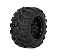GoolRC 2Pcs RC 1/8 Monster Car Wheel Rim And Tire 810006 for Traxxas HSP Tamiya HPI Kyosho RC Car