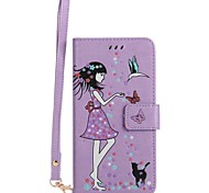 Чехол для Apple iphone 7 плюс 7 держатель карты с косичкой с подсветкой в темном флип-паттерне сумка для тела сексуальная леди твердая
