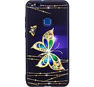 Per huawei p10 lite p9 lite cassa copertura farfalla modello copertura posteriore soft tpu p8 lite 2017