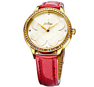 Women's Fashion Watch Quartz Water Resistant / Water Proof Leather Band Casual Black White Red Brown Pink