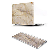 For MacBook Air 11 13 Pro Retina 13 15 Macbook 12 Case Cover PVC Material Marble with US Silicone Keyboard Protector
