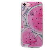Para el iphone material de la sandía de la ensenada del caso del iphone 7 7plus de la manzana iphone del imd del polvo del imd del caso