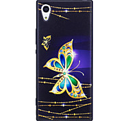 Sony Xperia XA1 XZ  Case Cover Butterfly Pattern Painted Embossed Feel TPU Soft Case Phone Case