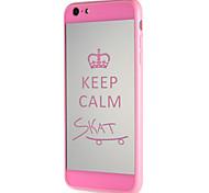Cas pour apple iphone 7 7plus pc dur motif word / phrase pour 6s plus 6 plus 6s 6