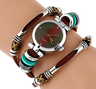 Жен. Модные часы Часы-браслет Уникальный творческий часы Наручные часы Китайский Кварцевый Имитация Алмазный Натуральная кожа Группа