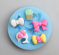 Bow Fondant Mold DIY Silicone Soap Candle Mold Handmade Soap Salt Carved DIY Silicone Food Grade Silicone Mold