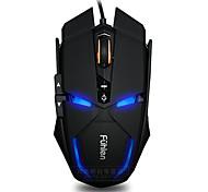 Fuhlen g300 7 клавиш 1600dpi usb светящая проводная мышь с кабелем 180 см