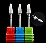 1PCS Nail Art Ceramic Electric Grinding Head Polishing Nail Tool  Grinding Machine Special Grinding Needle 18#-20# Optional