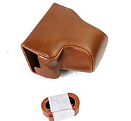 Dengpin PU Leather Camera Case Bag Cover for Canon EOS M6 15-45 lens (Assorted Colors)