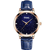 Жен. Модные часы Кварцевый Кожа Группа Черный Белый Синий Красный Фиолетовый