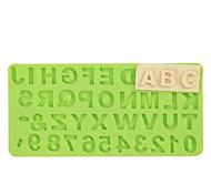 номер письмо силиконовая форма помада прессформа шоколад фимо глиняная форма цвет случайный