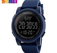Men's Sport Watch Digital Watch Digital PU Band Black Blue Green