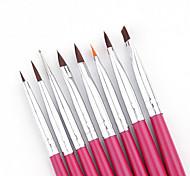 Pinpai 8pcs гвоздь маникюр набор французский маникюр перо фототерапия гвоздь акриловые кристалл ручка краска пера