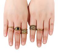 Жен. Классические кольца Кольцо манжета кольцо Базовый дизайн Геометрический Хип-хоп Rock Фильм ювелирные изделия Простой стильЗолотистый