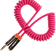 Audio jack de 3.5mm Cable, Audio jack de 3.5mm to Audio jack de 3.5mm Cable Macho - Hembra Cobre dorado 1,5 m (5 pies)