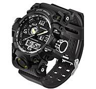 SANDA Муж. Спортивные часы Армейские часы Смарт-часы Модные часы Наручные часы Японский ЦифровойLED С двумя часовыми поясами