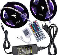 Hkv® 10 м (2 * 5 м) 5050 300led лента полосы rgb 44 пульт дистанционного управления 5a блок питания переменного тока 100-240v