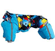 Собака Плащи Одежда для собак Сохраняет тепло Геометрические линии Лиловый Желтый Синий Розовый